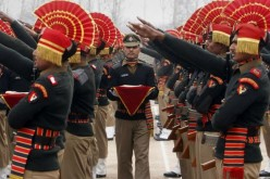 New recruits of the Indian Border Security Force.