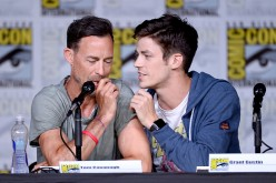Actors Tom Cavanagh (L) and Grant Gustin attends the 'The Flash' Special Video Presentation and Q&A during Comic-Con International 2016 at San Diego Convention Center on July 23, 2016 in San Diego, California.