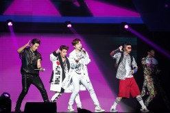 2PM performs during the K-Pop 'Go Crazy' World Tour at Prudential Center on November 14, 2014 in Newark, New Jersey.