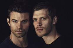 Daniel Gillies and Joseph Morgan of 'The Originals' attend Comic-Con International 2014 on July 26, 2014 in San Diego, California.