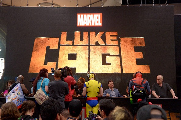 Fans line up for autographs at Netflix/Marvel's 'Luke Cage' panel during Comic-Con International 2016 at San Diego Convention Center on July 21, 2016 in San Diego, California