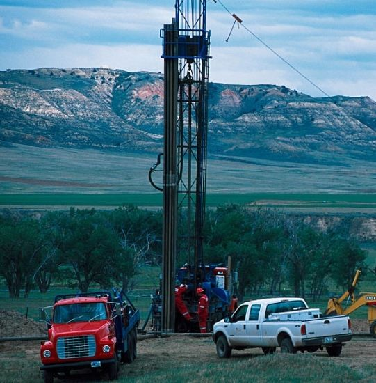Methane drilling rig in the USA.