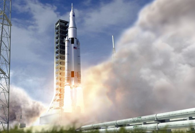 SLS launch (illustration).