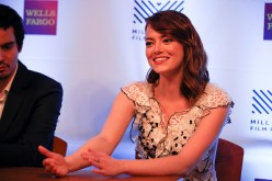 Actress Emma Stone is interviewed at The Outdoor Art Club on October 6, 2016 in Mill Valley, California.