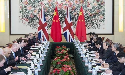China and the U.K. are working hand in hand to boost their diplomatic ties.
