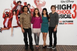 Corbin Bleu, Ashley Tisdale, Vanessa Hudgens and Zac Efron attend 'High School Musical 3: Senior Year' photocall at the ME Hotel on October 3, 2008 in Madrid, Spain.