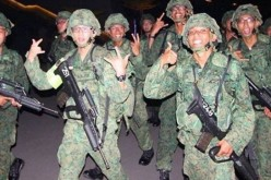 Singapore Army infantry in Australia.