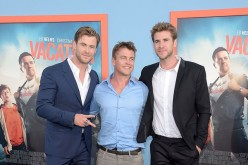 Australian actors and brothers Chris Hemsworth, Luke Hemsworth and Liam Hemsworth at the premiere of 'Vacation' on July 27, 2015 in Westwood, California.
