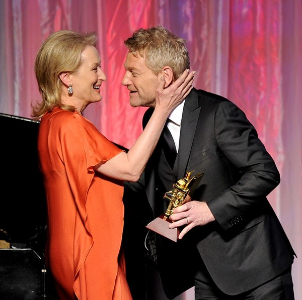 Meryl Streep and Kenneth Branagh appear at AARP Magazine's 11th Annual Movies for Grownups Awards Gala at the Beverly Wilshire Hotel on February 6, 2012 in Beverly Hills, California.