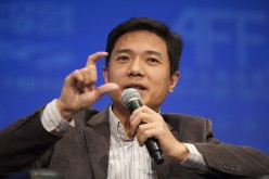 Robin Li, chairman and chief executive officer of Baidu Inc., speaks during the Asian Financial Forum in Hong Kong in 2014.