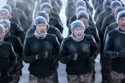 Young Chinese soldiers in training.