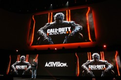 Treyarch's Game Designer Director, David Vonderhaar introduces 'Call of Duty Black Ops 2' during the Sony E3 press conference at the L.A. Memorial Sports Arena on June 15, 2015 in Los Angeles, California.