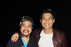 Yibada editor Conan Altatis poses with JC de Vera at the after-party for the 'Best. Partee. Ever.' gala screening. The film is written by Honee Alipio and directed by HF Yambao.