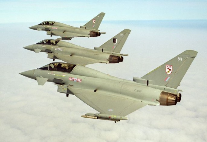 RAF Eurofighter Typhoons.
