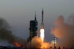 Shenzhou-11 manned spacecraft blasts off from the Jiuquan Satellite Launch Center in Northwest China, Oct. 17, 2016.