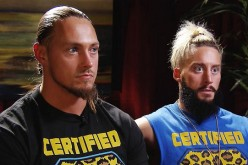 Enzo Amore and Big Cass reacts to a question during an interview on Monday Night Raw.