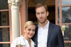 Singer/songwriter Rita Ora and DJ/producer Calvin Harris attend the Roc Nation Pre-GRAMMY Brunch Presented by MAC Viva Glam at Private Residence on January 25, 2014 in Beverly Hills, California.