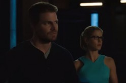 Stephen Amell and Emily Bett Rickards star in the TV series 'Arrow.'