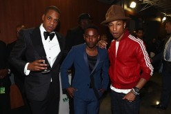 Recording artists Jay-Z, Kendrick Lamar, and Pharrell Williams attend the 56th GRAMMY Awards at Staples Center on January 26, 2014 in Los Angeles, California.