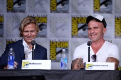 Screenwriter Phil Klemmer and actor Dominic Purcell attend DC's 'Legends Of Tomorrow' Special Video Presentation and Q&A during Comic-Con International 2016 at San Diego Convention Center in San Diego, California.