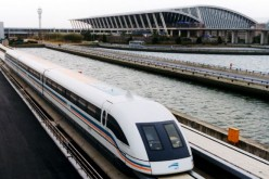 The Shanghai maglev.