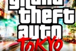 'GTA 6' Grand Thef Auto: Tokyo a logo projected online.