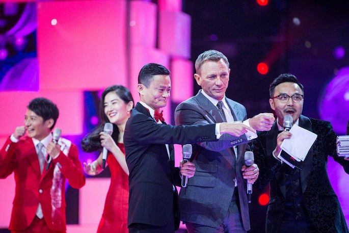 Alibaba founder and chairman Jack Ma and actor Daniel Craig attend the gala of Tmall shopping festival in Beijing last year.