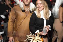 Hilary Duff (R) and Jason Walsh attend the Casamigos Halloween Party at a private residence on October 28, 2016 in Beverly Hills, California.