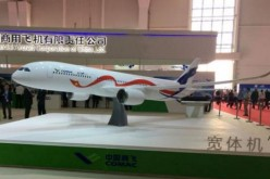 Scale model of Sino-Russo wide-body jet.