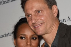 'Scandal' stars Kerry Washington and Tony Goldwyn pose on the red carpet during the 'Scandal-ous!' event hosted by the Smithsonian Associates at the University of the District of Columbia.