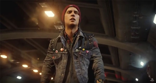 """Infamous: Second Son"" main protagonist Delsin Rowe looks around to help some survivors."