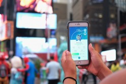 The 'Pokemon Go' craze hits New York City on July 25, 2016 in New York City.