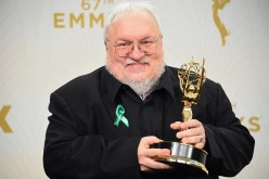 Writer George R. R. Martin, winner of Outstanding Drama Series for 'Game of Thrones', poses in the press room at the 67th Annual Primetime Emmy Awards at Microsoft Theater on September 20, 2015 in Los Angeles, California.