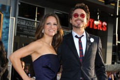Executive producer Susan Downey and actor Robert Downey Jr. arrive at the world premiere of Paramount Pictures and Marvel Entertainment's 'Iron Man 2' held at El Capitan Theatre on April 26, 2010 in Hollywood, California.