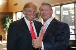 President-elect Donald Trump and WWE Chairman Vince McMahon attends a press conference in Green Bay, Wisconsin back in 2009.
