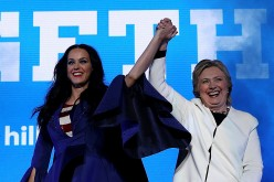 Hillary Clinton Campaigns with Katy Perry in crucial States ahead of the Presidential election