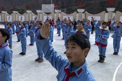 Students at a Chinese private school.