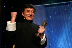 Actor Jackie Chan poses with his Honorary Award at the 8th Annual Governors Awards in Los Angeles, California, U.S., Nov. 12, 2016.