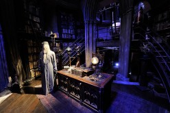 A general view of Dumbledore's office on the set of Harry Potter at the Warner Bros. Studio Tour London - The Making of Harry Potter, at Leavesden Studios on March 30, 2012 in Watford, England.