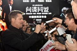 Brad Pitt attends the red carpet for the Paramount Pictures title 'Allied' on November 14, 2016 at Shanghai Postal Museum in Shanghai, China.