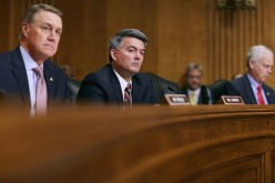Senate Foreign Relations Committee members  Sen. David Perdue, Sen. Cory Gardner and Sen. Ron Johnson attend a hearing titled, 'The Persistent North Korea Denuclearization and Human Rights Challenge.'