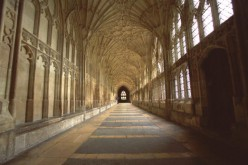 The Cloisters at Gloucester Cathedral is where 'The Chamber of Secrets has been opened' scene in Harry Potter was filmed.