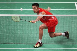 Dan Lin of China competes against Viktor Axelson of Denmark during the Men's Singles Badminton Bronze Medal match on Day 15 of the Rio 2016 Olympic Games at Riocentro - Pavilion 4 on August 20, 2016 in Rio de Janeiro, Brazil
