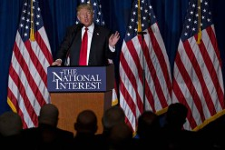 Donald Trump speaks about the U.S. foreign policy in April at the Mayflower Hotel in Washington, D.C.