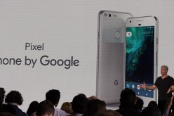 Google Pixel smartphone introduced at a press conference