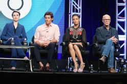 Actors Evan Rachel Wood, James Marsden, Thandie Newton and Ed Harris speak onstage during the 'Westworld' panel discussion at the HBO portion of the 2016 Television Critics Association Summer Tour at The Beverly Hilton Hotel on July 30, 2016 in Beverly Hi