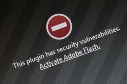 A window on the Mozilla Firefox browser shows the browser has blocked the Adobe Flash plugin from activating due to a security issue on July 14, 2015 in Berlin, Germany.