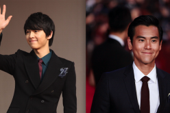 Song Joong-Ki (L) at the 2011 Mnet Asian Music Awards and Eddie Peng at The 18th Shanghai International Film Festival.
