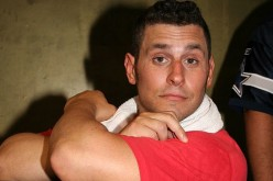 Colt Cabana poses with a fan's ;hammer' at XPW X 10th Anniversary Show on August 22, 2009.