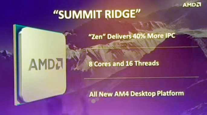 "The AMD ""Summit Ridge"" Desktop Processor Revealed."
